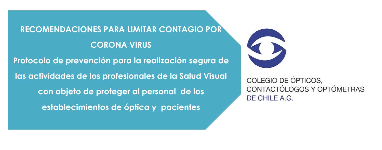Recomendaciones para limitar contagio por Corona Virus